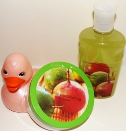 BATH & BODY WORKS TROPICAL PASSIONFRUIT 2 PC BATH GIFT SET