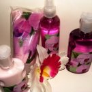 BATH & BODY WORKS ENCHANTED ORCHID 4 PC BATH GIFT SET