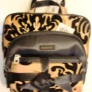 MODELLA 3 PC BLACK & GOLD TRAVEL COSMETICS BAG SET