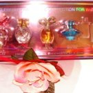 CELEBRITY DESIGNERS 5 PC WOMEN'S PERFUME COLLECTION GIFT SET