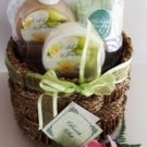 MIDNIGHT JASMINE MINI 5 PC BATH SET W/ WOVEN BASKET