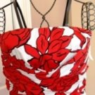 DONNA RICCO WOMEN'S STRAPLESS RED & WHITE FLORAL TUBE DRESS, SIZES 12