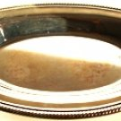 SILVER PLATED ROUND PLATTER SERVER W/ ROLLED RIM