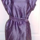 DEMOISELLE WOMEN'S PURPLE SLEEVELESS BELTED DRESS, SIZE 8