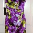 JNY WOMEN'S SLEEVELESS MULTI-FLORA V-NECK SPRING FEVER DRESS, SIZES 6,8