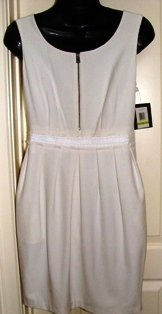 MARC NEW YORK WOMEN'S IVORY GABARDINE SCOOP NECK POCKET DRESS, SIZES 4,12