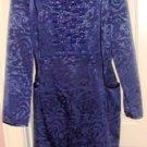 STACY ADAMS WOMEN'S NAVY BLUE LONG SLEEVE COCKTAIL DRESS, SIZES 12,14