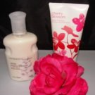 BATH & BODY WORKS 2 PC CHERRY BLOSSOM & WHITE CHERRY BLOSSOM LOTION SET