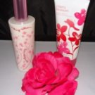 BATH & BODY WORKS 2 PC CHERRY BLOSSOM GRADUAL TAN & BODY LOTION SET