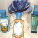 BATH & BODY WORKS COUNTRY CHIC 3 PC MINI TRAVEL BATH SET