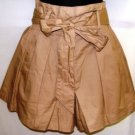 BEULAH WOMEN'S BEIGE BOW-TIE SHORTS SIZES SM, MED