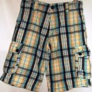 BOYS LEVI MULTI COLOR PLAID CARGO SHORTS SIZE 14