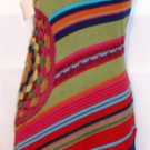 DOUBLE ZERO MULTI COLOR SLEEVELESS STRIPE TUNIC SWEATER, SIZE MED 8-10
