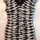 BALI BLACK/WHITE STRIPE SLEEVELESS TUMMY CONTROL TOP SIZE XLG, XXLG