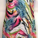 BALI SLEEVELESS MULTI- COLOR PINK A-LINE DRESS SIZE SM 4, L 14, XXL 18