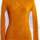 WOW COUTURE WOMEN'S CABLE KNIT W/ WAFFLE KNIT DESIGN SWEATER, SIZE SM 4-6, MED 8-10, L 12-14