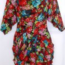 "ARK & CO WOMEN'S MULTI COLOR RUFFLE FRONT 3/4"" SLEEVE DRESS SIZE MED 8-10"