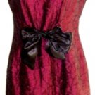 TAYLOR WOMEN'S SLEEVELESS MAROON/BLACK A-LINE DRESS SIZE, 6