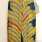 NINA AUSTIN WOMEN'S YELLOW/GREY MULTI-COLOR V-NECKLINE GOWN SIZE, MED