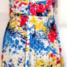DONNA RICCO WOMEN'S MULTI-COLOR STRAPLESS TUBE DRESS SIZE, 4, 6