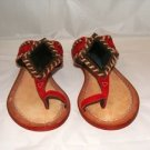 APEPAZZA WOMEN'S TOPAZIO RED THONG SANDAL SIZE, 9, 10