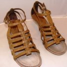 "APEPAZZA WOMEN'S RUANDA ANTIQUE STRAPPY TAUPE 3.5"" SANDAL SIZ 9"
