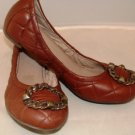 NICOLE WOMEN'S MAGNIFY COPPER FASHION FLAT W/ GUILT DETAIL SIZE 7