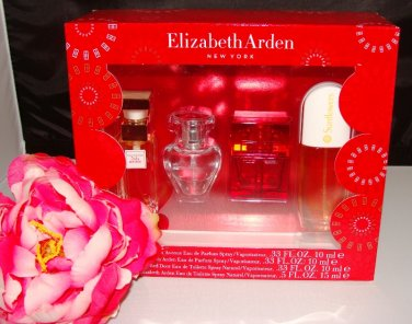 ELIZABETH ARDEN 4 PC WOMEN'S .33 OZ PERFUME COFFRET GIFT SET