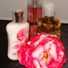 BATH & BODY WORKS CHERRY  BLOSSOM 3 PC BATH SET