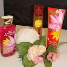 B & BW TOKYO LOTUS & APPLE BLOSSOM 3 PC BATH AND BODY SET