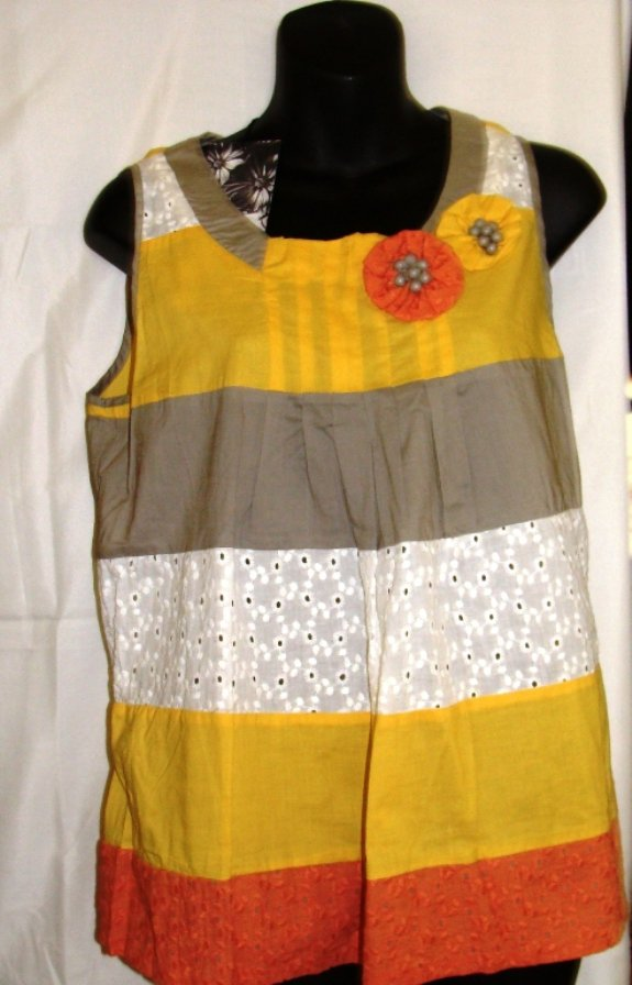 YOUNG THREADS ROUND NECK COLOR BLOCK TOP SIZES, MED-10, L-14
