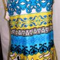 YOUNG TRENDS WOMEN'S V-NECK SLEEVELESS MULTI-COLOR DRESS SIZE S, L, XL