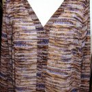 VERONICA M QUAIL MULTI-COLOR BLOUSE SIZE MED, LG, X-LG