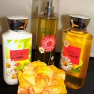 BATH & BODY WORKS LOVE & SUNSHINE 3 PC BATH SET
