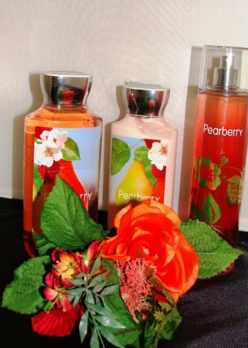 BATH & BODY WORKS PEARBERRY 3 PC BATH & BODY SET