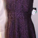 JUST TAYLOR PURPLE SLEEVELESS JACQUARD EVENING DRESS SIZE SM