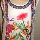 JEALOUS TOMATO SLEEVELESS MULTI-COLOR SHEER TOP SIZES SM, MED, LG