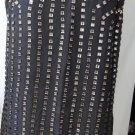 ALBERTO MAKALI CHARCOAL SLEEVELESS DRESS PLUS SIZE XL