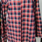 HOT & DELICIOUS RED/BLACK/WHITE PLAID FLANNEL SHIRT SIZE MED