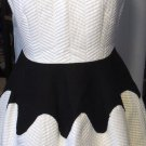 BEULAH SLEEVELESS BLACK & WHITE SKATER DRESS SIZE SM, LG