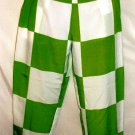 HOT & DELICIOUS GREEN/WHITE SQUARES PANTS SIZES SM, MED