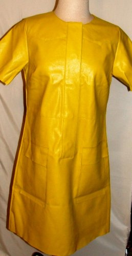 GRACIA SHORT SLEEVE YELLOW PLEATHER POCKET DRESS SIZE, S, M, L
