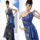 EGYPTIAN INSPIRED NAVY BLUE DRESS S01