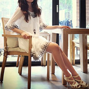 SH0010 - EMBROIDERED LACE DRESS