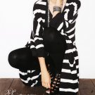 SH0020 - STRIPES LONG COTTON KNIT JACKET