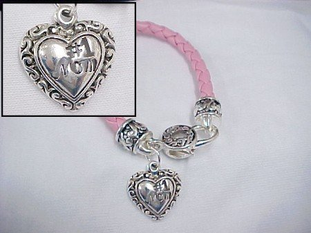 Number 1 Mom Pink Bracelet -- Clearance