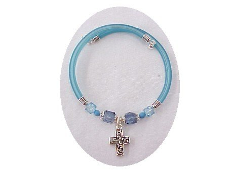 Bangle Bracelet with Cross