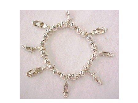 Shoe -- Flip Flop Stretchy Bracelet