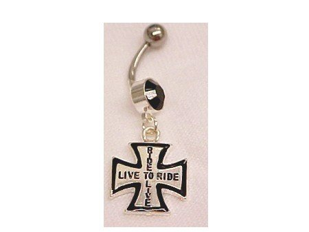 Biker Live to Ride BellyRing