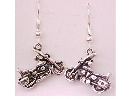 Motorcycle Earrings-- CLEARANCE 1/2 OFF